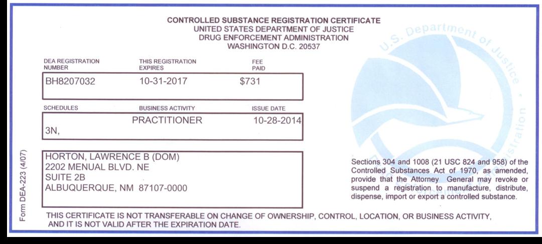Dr Hortons Licensure Future Medicine Now